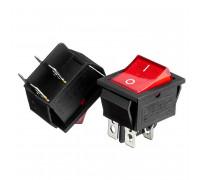 Кнопка переключатель красная 27.8x21.8мм 16А 250В ON-(OFF) KCD2-201 4pin Daier