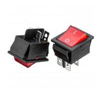 Кнопка перемикач червона 27.8x28.5мм 16А 250В ON-(OFF) KCD2-201/N 4pin Daier