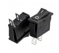 Кнопка переключатель черная 28x10.5мм 15А 250В ON-(OFF) KCD3-101 2pin Daier