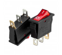 Кнопка переключатель красная 28x10.2мм 10А 250В ON-(OFF) KCD3-102/N 3pin Daier