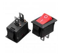 Кнопка перемикач червона 13.8х9мм 6А 250В ON-(OFF) KCD5-101 2pin Daier