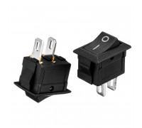 Кнопка перемикач чорна 13.8х9мм 6А 250В ON-(OFF) KCD5-101 2pin Daier