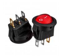 Кнопка переключатель красная 14.4мм 3А 250В ON-(OFF) KCD5-101N-2 3pin Daier