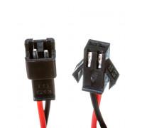 Комплект коннекторов для cветодиодной ленты папа+мама 12V 2pin черный с зажимом