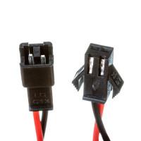 Комплект коннекторів для світлодіодної стрічки тато мама 12V 2pin чорний з затиском