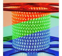 Світлодіодна стрічка 220V RGB герметична smd5050 10W/m 60LED/м IP65