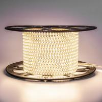 Світлодіодна стрічка біла тепла 220V герметична AVT smd2835 120LED/м 4Вт/м IP65