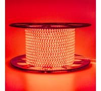 Светодиодная лента красная 220V герметичная AVT smd2835 120LED/м 4Вт/м IP65