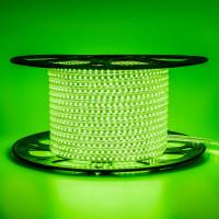 Светодиодная лента зеленая 220V AVT smd2835 120LED/м 4Вт/м IP65