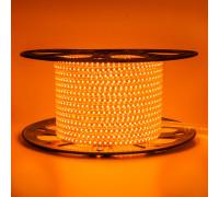 Світлодіодна стрічка помаранчева 220V герметична AVT smd2835 120LED/м 4Вт/м IP65