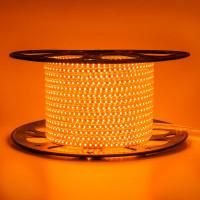 Светодиодная лента оранжевая 220V AVT smd2835 120LED/м 4Вт/м IP65