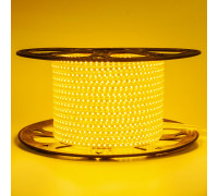 Світлодіодна стрічка 220V герметична жовта AVT smd2835 120LED/м 4Вт/м IP65
