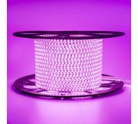 Світлодіодна стрічка рожева 220V герметична AVT smd2835 120LED/м 4Вт/м IP65