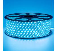 Светодиодная лента синяя 220V герметичная smd2835 120LED/м 12Вт/м IP65