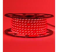 Светодиодная лента красная 220V герметичная smd2835 120LED/м 12Вт/м IP65