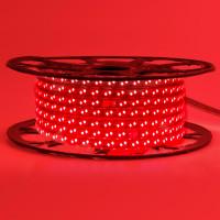 Светодиодная лента красная 220V smd2835 120LED/м 12Вт/м IP65