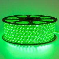Светодиодная лента зеленая 220V smd2835 120LED/м 12Вт/м IP65