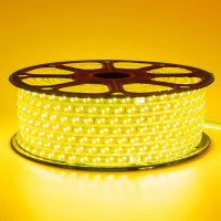 Светодиодная лента желтая 220V smd2835 120LED/м 12Вт/м IP65