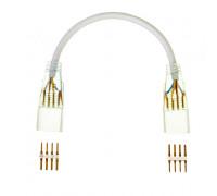 Двосторонній коннектор для неону AVT RGB 220V smd5050-72 з проводом