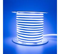 Неоновая лента светодиодная синяя AVT 220V smd2835 120LED/м 7Вт/м IP65