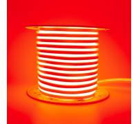 Неоновая лента светодиодная красная AVT 220V smd2835 120LED/м 7Вт/м IP65