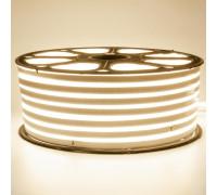 Неоновая лента светодиодная белая теплая 220V smd2835 120LED/м 12Вт/м IP65