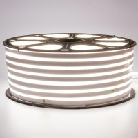 Неоновая лента светодиодная белая 220V smd2835 120LED/м 12Вт/м IP65