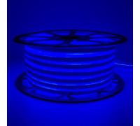 Неоновая лента светодиодная синяя 220V smd2835 120LED/м 12Вт/м IP65