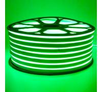 Неонова стрічка світлодіодна зелена 220V smd2835 120LED/м 12Вт/м IP65