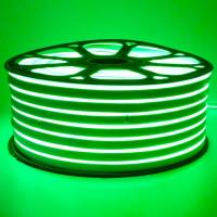 Неоновая лента светодиодная зеленая 220V smd2835 120LED/м 12Вт/м IP65