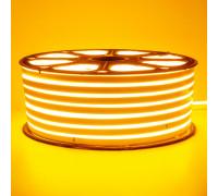 Неонова стрічка світлодіодна жовта 220V smd2835 120LED/м 12Вт/м IP65