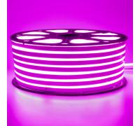 Неонова стрічка світлодіодна рожева 220V smd2835 120LED/м 12Вт/м IP65
