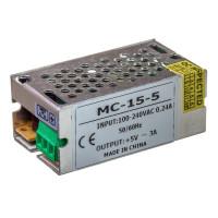 Led блок питания 5V 3A 15Вт IP20 MC