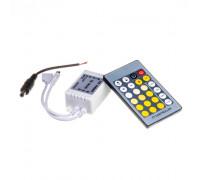 LED світлодіодний контролер W WW 6 А-72Вт (IR 24 кнопки)