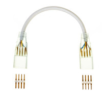 Двусторонний коннектор для ленты Multi-Color 220V smd2835-180led с проводом 4pin