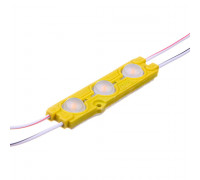 Світлодіодний модуль 12V жовтий smd5730 3led 1.5 W IP65
