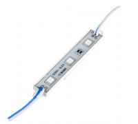 Світлодіодний модуль 12 V синій smd5050 3led 0.72 W IP65