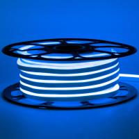 Неоновая лента светодиодная синяя AVT-1 220V smd2835 120LED/м 7Вт/м IP65