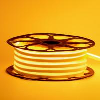 LED неон герметичный желтый AVT-1 220V smd2835 120LED/м 7Вт/м IP65