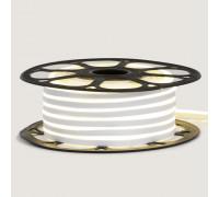 Неонова стрічка світлодіодна біла 12V силікон 6х12 AVT - smd2835 120LED/м 6Вт/м IP65