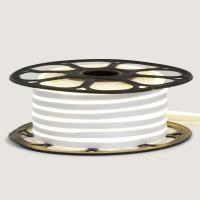 Неоновая лента светодиодная белая 12V силикон 6х12 AVT- smd2835 120LED/м 6Вт/м IP65