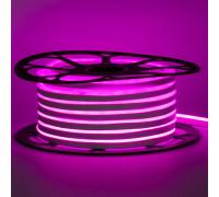 Неоновая лента светодиодная розовая 12V 6х12 AVT-smd2835 120LED/м 6Вт/м IP65