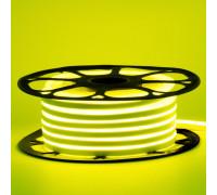 Неонова стрічка світлодіодна жовта лимонна 12V 6х12 AVT-smd2835 120LED/м 6Вт/м IP65