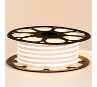 Неонова стрічка світлодіодна біла тепла 12V 8х16 пвх smd2835 120LED/м 6Вт/м IP65
