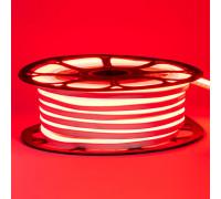 Неоновая LED лента герметичная красная 12V 8х16 пвх smd2835 120LED/м 6Вт/м IP65