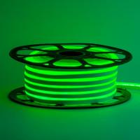 Неоновая лента светодиодная зеленая 12V 8х16 пвх smd2835 120LED/м 6Вт/м IP65
