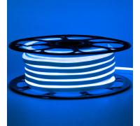 Неоновая лента светодиодная синяя 12V 8х16 пвх smd2835 120LED/м 6Вт/м IP65