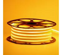 Неоновая лента светодиодная желтая 12V 8х16 пвх smd2835 120LED/м 6Вт/м IP65