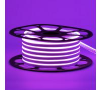 Неоновая лента светодиодная фиолетовая 12V 8х16 пвх smd2835 120LED/м 6Вт/м IP65