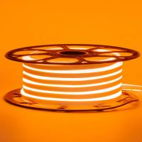 Неоновая лента светодиодная оранжевая 12V 8х16 пвх smd2835 120LED/м 6Вт/м IP65